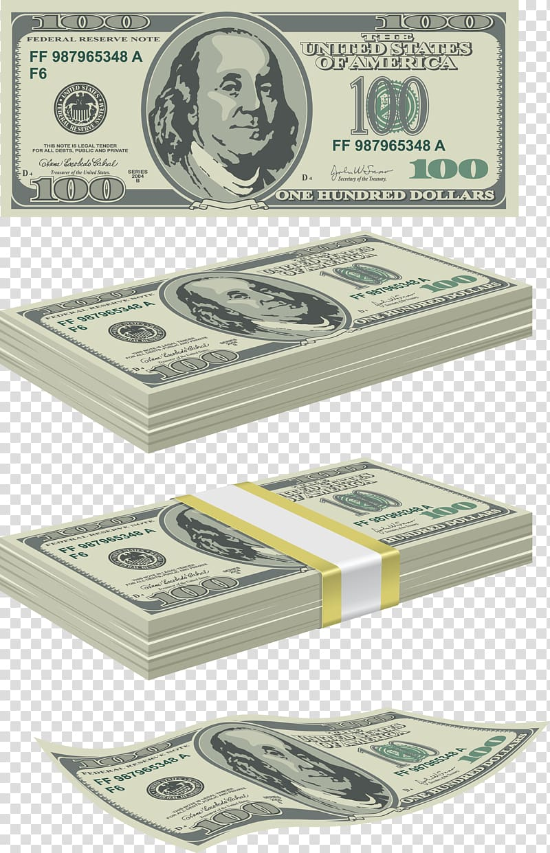 United States Dollar Currency Money, Money transparent.