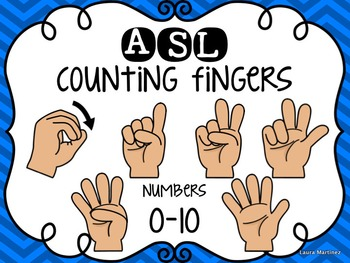 ASL Counting Finger Clipart 0.