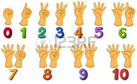 Counting Fingers Clipart 1.