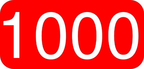 Number 1 000 Clipart.