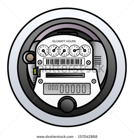 Electricity Meter Stock Images, Royalty.
