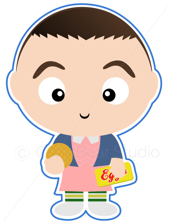 Eleven From Stranger Things Clipart.