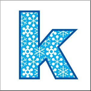 Clip Art: Alphabet Set 02: K Lower Case Color I abcteach.com.