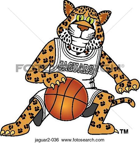 Stock Illustration of Jaguar 2 playing Basketball jaguar2.