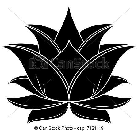 Vector Clip Art of Lotus Set 036.