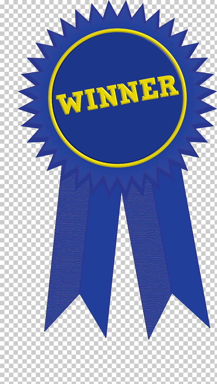 Ribbon Award Paper Rosette Medal, Winner Ribbon , blue and.
