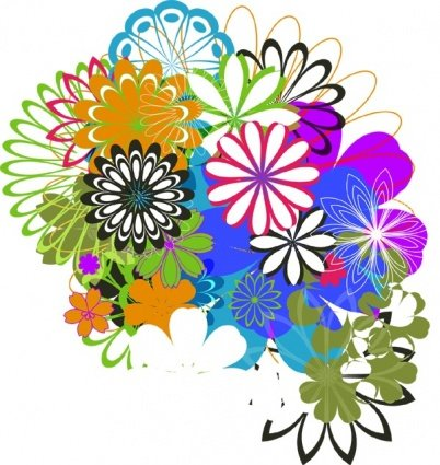 Free Free Vector Flowers 09s Clipart and Vector Graphics.