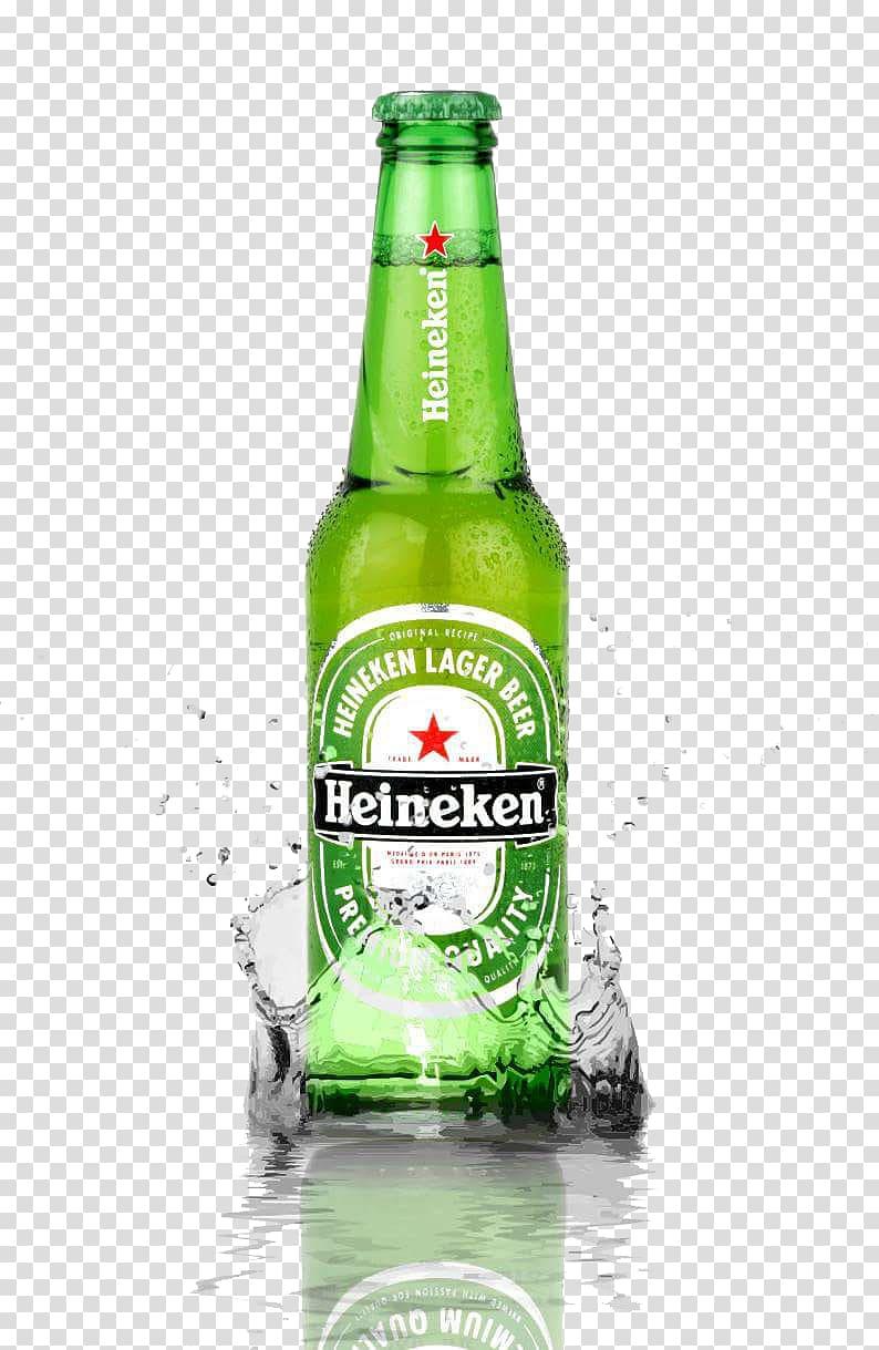 Heineken liquor bottlee, Water splashing beer bottles Free.