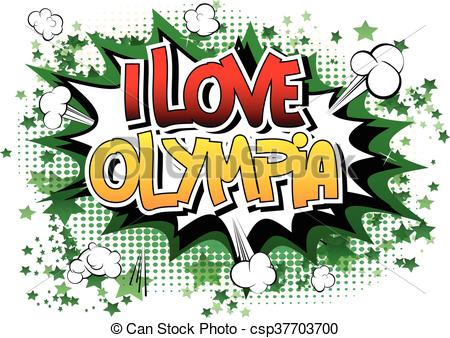 Vector Clipart of I Love Olympia.