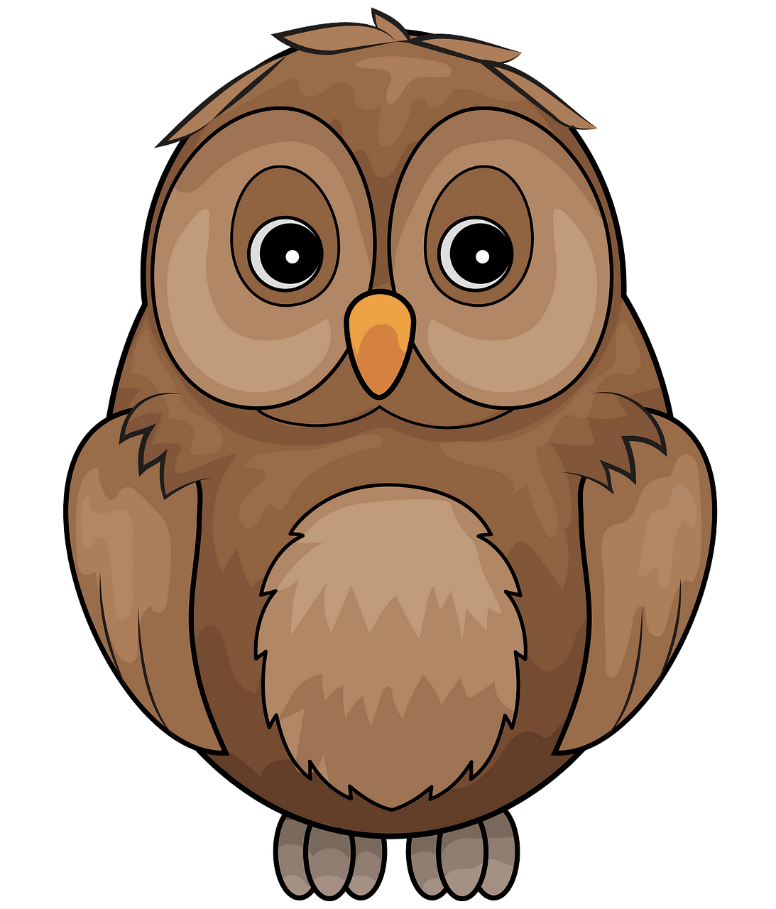 Brown Owl clipart. Free download..