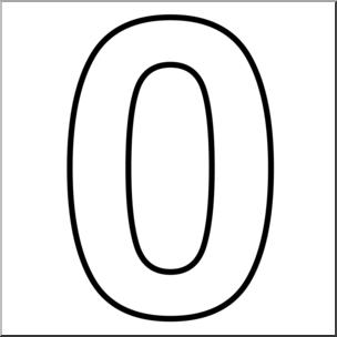 Clip Art: Number Set 1: 00 Outline I abcteach.com.