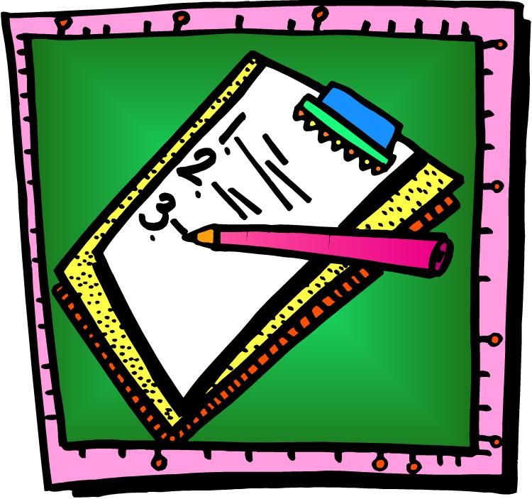 Writing A List Clipart.