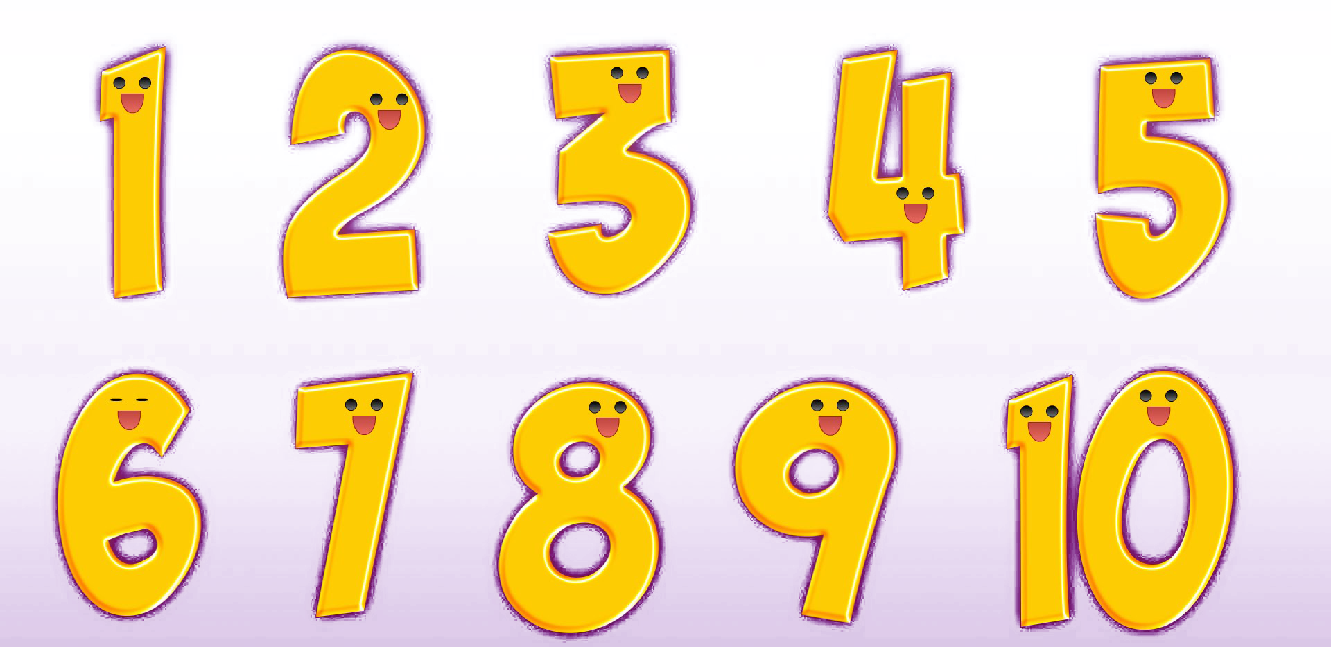 1 to 10 Numbers PNG Transparent Images.