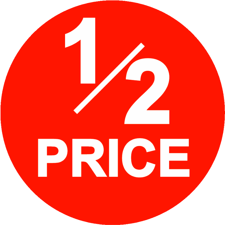 Image Result For 1/2 Price For Sale Sign, Thrifting,.