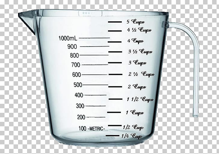 Measuring cup Recipe Measurement Conversion of units, cup.