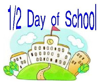1/2 Day Of School Clipart.
