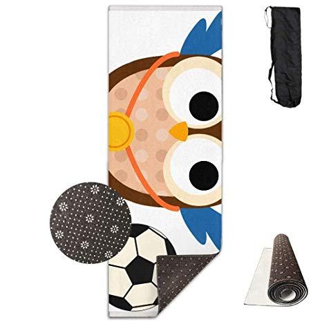 Amazon.com: Football Clipart Owls Deluxe,Yoga Mat Aerobic.
