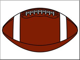 Clip Art: Football 2 Color Blank I abcteach.com.