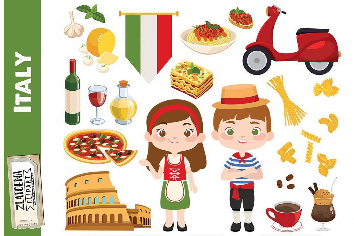 Italian clip art Italy clipart Pizza clipart Pasta Food Rome.