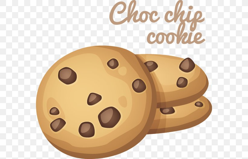 Chocolate Chip Cookie Cartoon Clip Art, PNG, 582x525px.