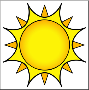 Clip Art: Sun 01 Color 2 I abcteach.com.