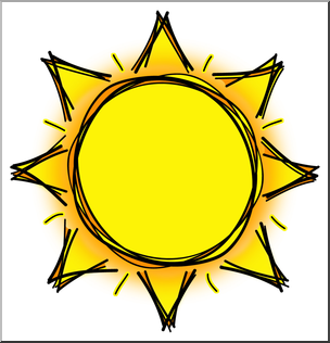 Clip Art: Sun 02 Color 2 I abcteach.com.