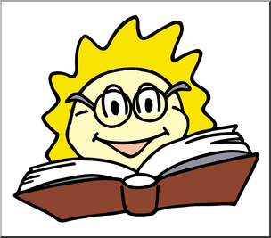 Clip Art: Reading Sun Color 2 I abcteach.com.