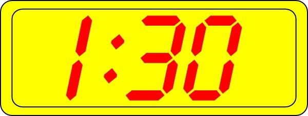 Digital Clock 1:30 clip art Free vector in Open office.