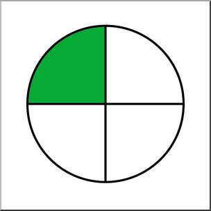 Clip Art: Circle04 Color 1/4 I abcteach.com.