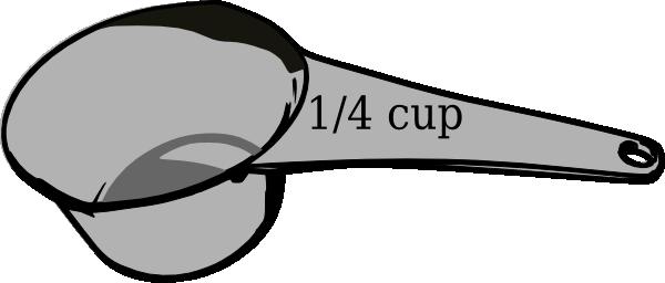 1/4 Cup Measuring Cup Clip Art at Clker.com.