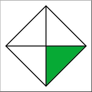 Clip Art: Polygon 04 1/4 Color I abcteach.com.