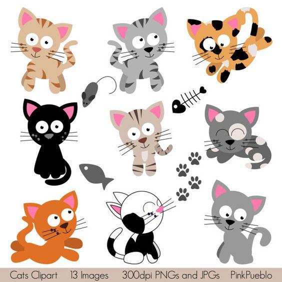 Cats Clipart Clip Art, Kitten Clipart Clip Art.