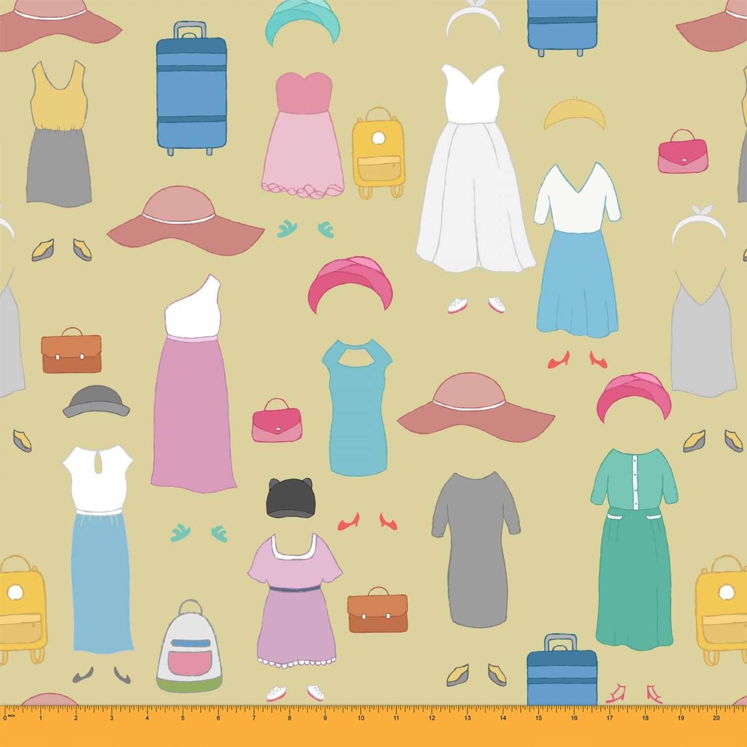 Soimoi Dresses & Luggage Bag Women Fabric Prints By Yard.