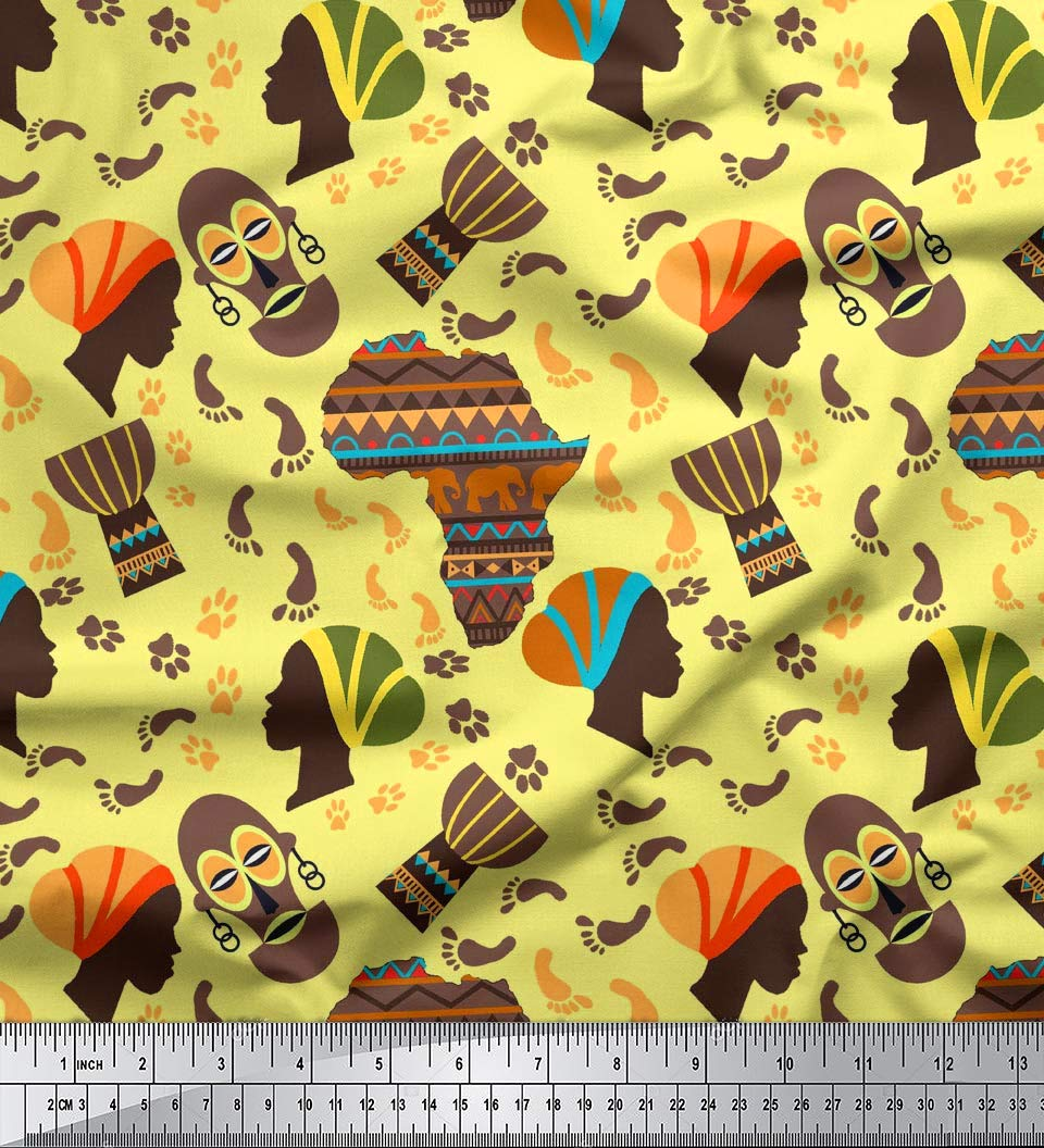 Amazon.com: Soimoi 65 GSM Georgette Fabric Tribal Print 44 Inches.