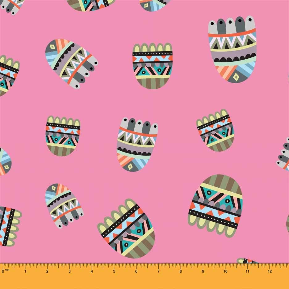Soimoi Light Pink African Tribal Home Furnishing Fabric Upholstery.