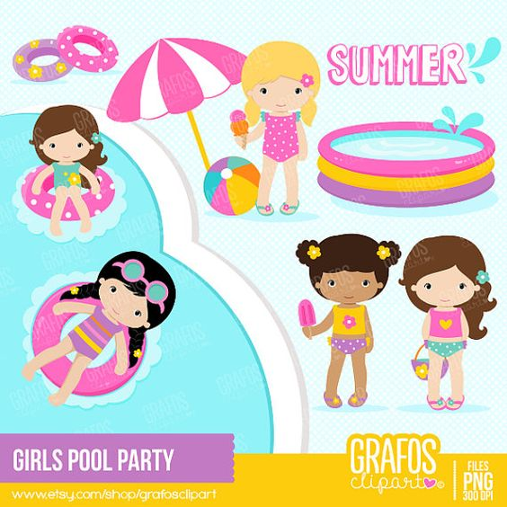 GIRLS POOL PARTY.