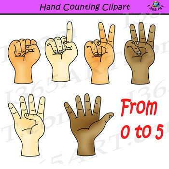Finger Counting Clipart Commercial Use Worksheets & Teaching.