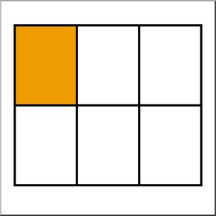 Clip Art: Rectangle06 1/6 color I abcteach.com.