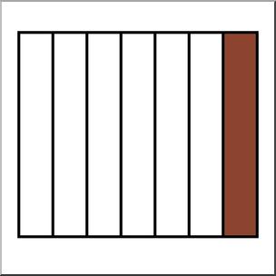 Clip Art: Rectangle07 1/7 Color I abcteach.com.