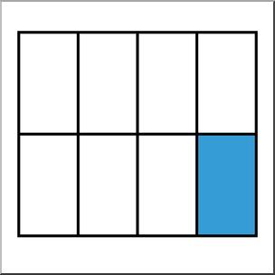 Clip Art: Rectangle08 1/8 Color I abcteach.com.