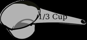 1/3 Cup Measuring Cup Clip Art at Clker.com.