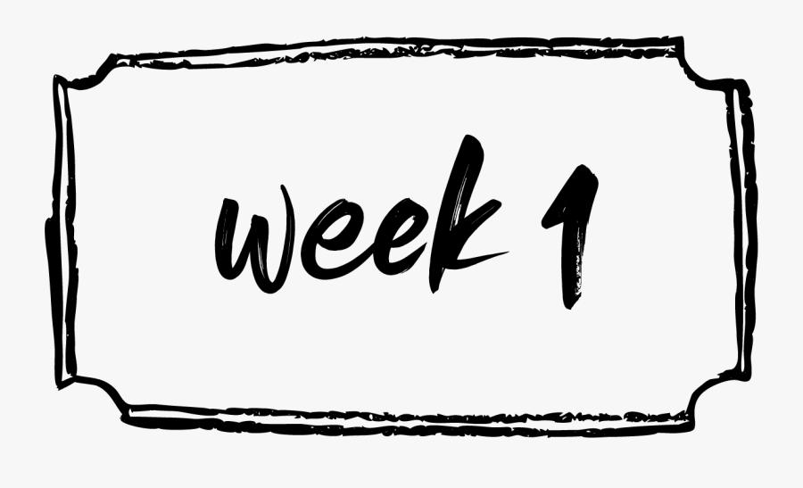 Week 1 Clip Art , Free Transparent Clipart.