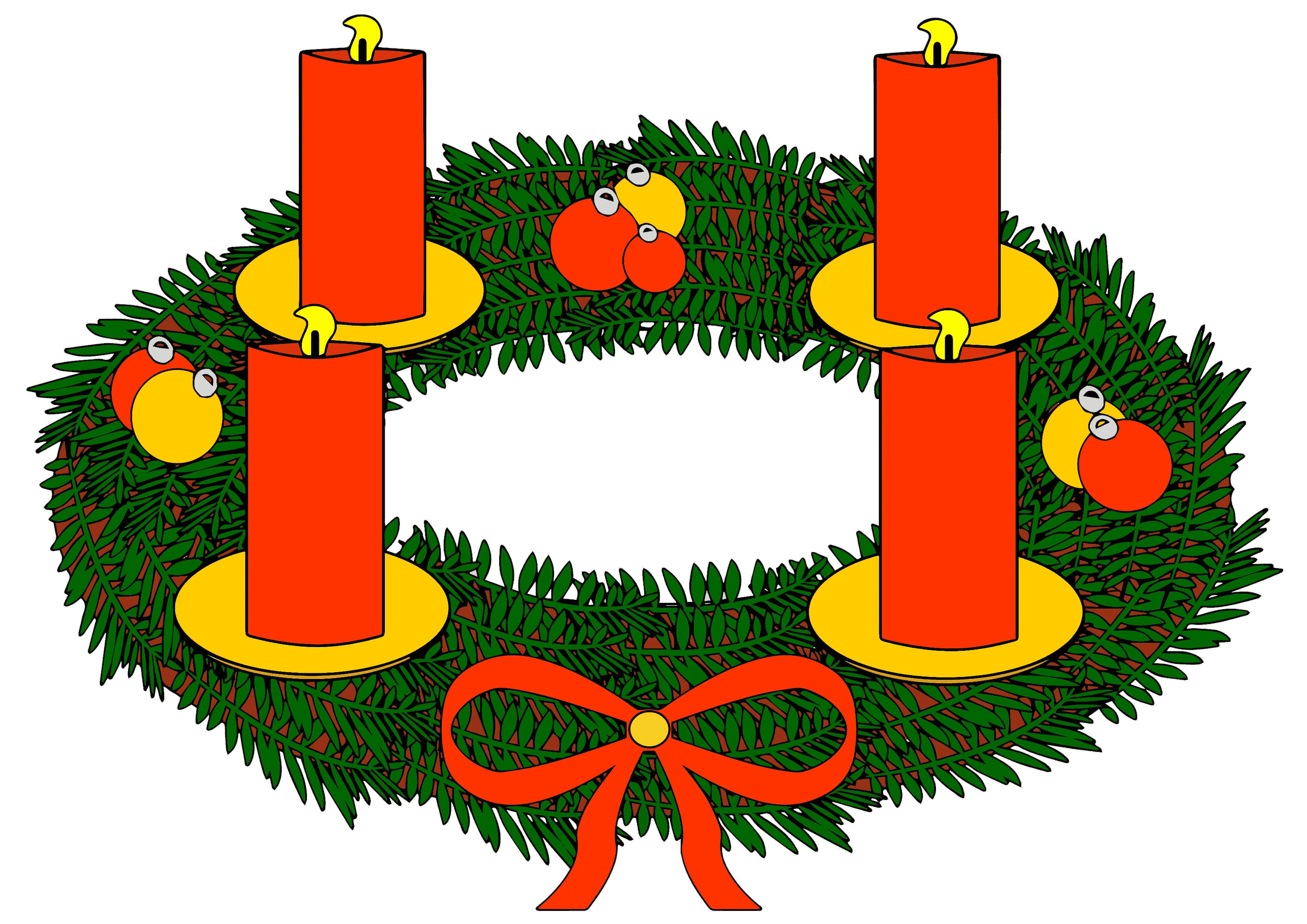 Adventskranz 1. Advent Clipart.