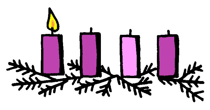 Advent clipart one candle lit, Advent one candle lit.