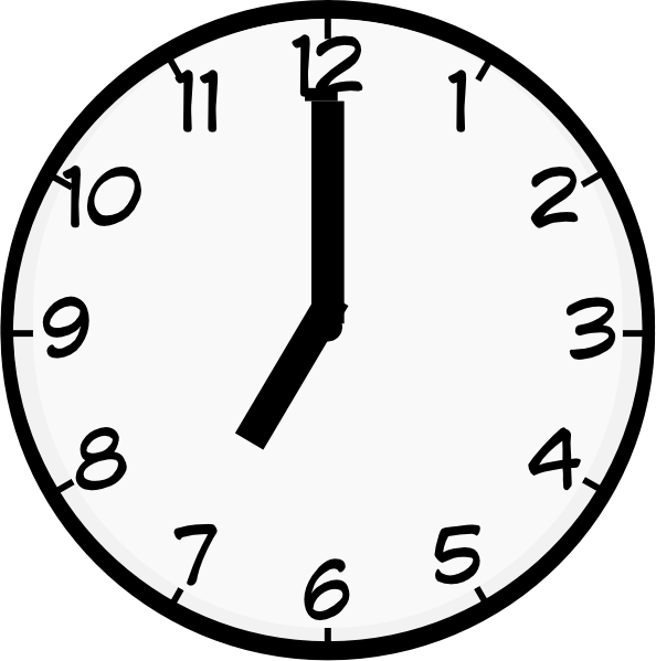 Clipart clock 7 am, Clipart clock 7 am Transparent FREE for.