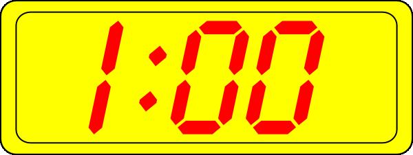 Digital Clock 1:00 Clip Art at Clker.com.