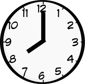 Clipart clock 8 am, Clipart clock 8 am Transparent FREE for.