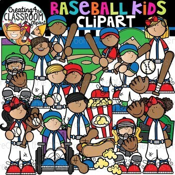 Baseball Kids Clipart {Baseball Clipart}.