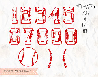 Baseball numbers clipart 1 » Clipart Station.