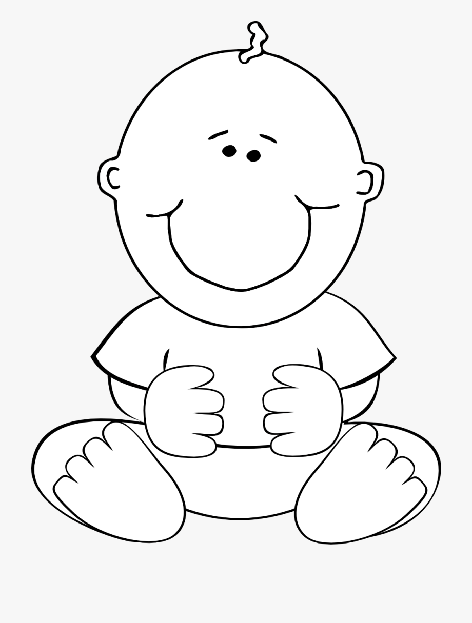 Baby Turkey Clipart Black And White Image.